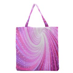 Vortexglow Abstract Background Wallpaper Grocery Tote Bag by Simbadda