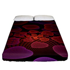 Heart Invasion Background Image With Many Hearts Fitted Sheet (california King Size)
