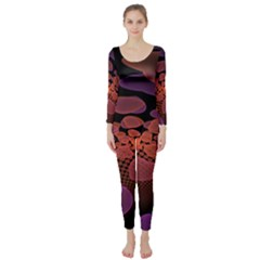 Heart Invasion Background Image With Many Hearts Long Sleeve Catsuit