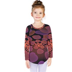 Heart Invasion Background Image With Many Hearts Kids  Long Sleeve Tee