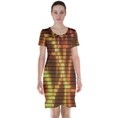Circle Tiles A Digitally Created Abstract Background Short Sleeve Nightdress