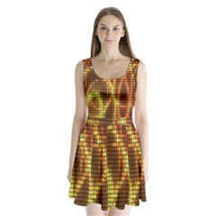 Circle Tiles A Digitally Created Abstract Background Split Back Mini Dress