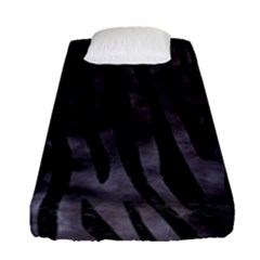 Skin4 Black Marble & Black Watercolor Fitted Sheet (single Size)