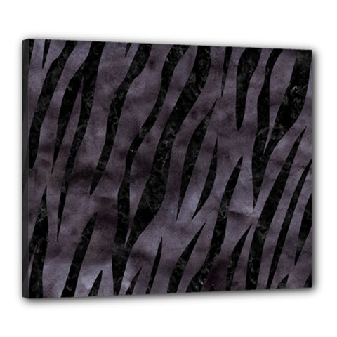 Skin3 Black Marble & Black Watercolor (r) Canvas 24  X 20  (stretched) by trendistuff