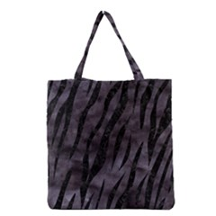 Skin3 Black Marble & Black Watercolor (r) Grocery Tote Bag by trendistuff