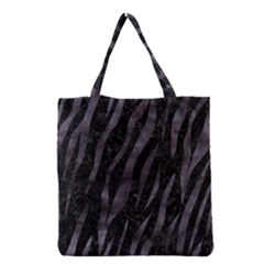 Skin3 Black Marble & Black Watercolor Grocery Tote Bag by trendistuff