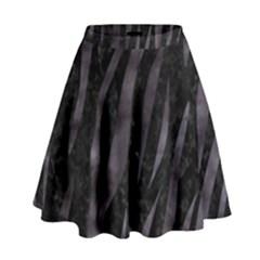 Skin3 Black Marble & Black Watercolor High Waist Skirt by trendistuff