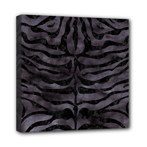 Skin2 Black Marble & Black Watercolor (r) Mini Canvas 8  X 8  (stretched) by trendistuff
