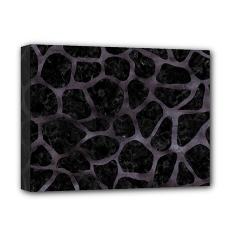 Skin1 Black Marble & Black Watercolor (r) Deluxe Canvas 16  X 12  (stretched)  by trendistuff