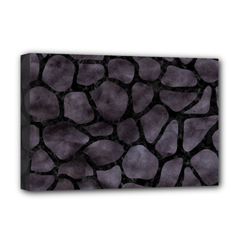 Skin1 Black Marble & Black Watercolor Deluxe Canvas 18  X 12  (stretched) by trendistuff