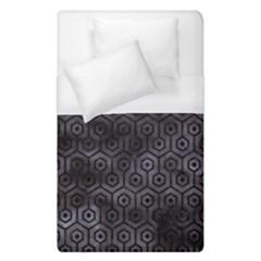 Hexagon1 Black Marble & Black Watercolor (r) Duvet Cover (single Size) by trendistuff