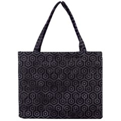 Hexagon1 Black Marble & Black Watercolor Mini Tote Bag by trendistuff