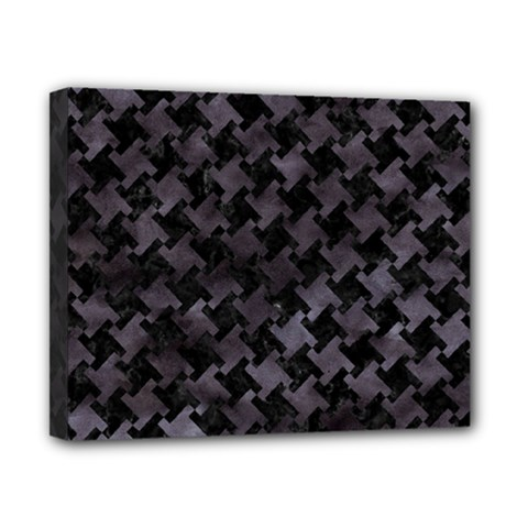 Houndstooth2 Black Marble & Black Watercolor Canvas 10  X 8  (stretched) by trendistuff