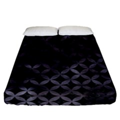 Circles3 Black Marble & Black Watercolor Fitted Sheet (queen Size) by trendistuff