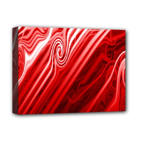 Red Abstract Swirling Pattern Background Wallpaper Deluxe Canvas 16  X 12   by Simbadda