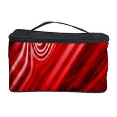 Red Abstract Swirling Pattern Background Wallpaper Cosmetic Storage Case by Simbadda
