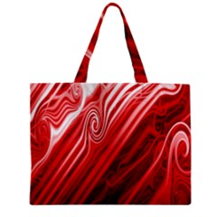 Red Abstract Swirling Pattern Background Wallpaper Zipper Mini Tote Bag by Simbadda