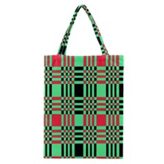 Bright Christmas Abstract Background Christmas Colors Of Red Green And Black Make Up This Abstract Classic Tote Bag by Simbadda