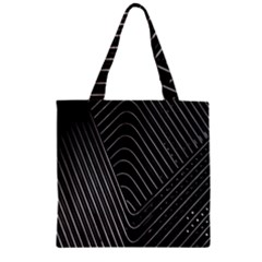 Chrome Abstract Pile Of Chrome Chairs Detail Zipper Grocery Tote Bag by Simbadda