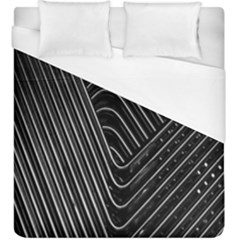 Chrome Abstract Pile Of Chrome Chairs Detail Duvet Cover (king Size)