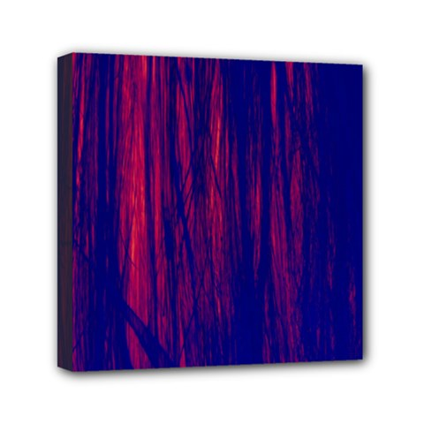 Abstract Color Red Blue Mini Canvas 6  X 6  by Simbadda