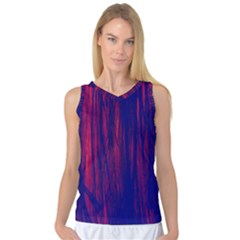 Abstract Color Red Blue Women s Basketball Tank Top