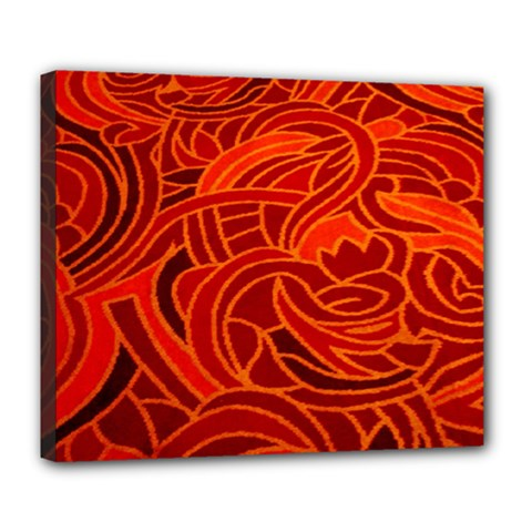 Orange Abstract Background Deluxe Canvas 24  X 20   by Simbadda