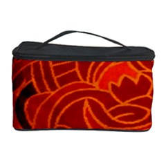 Orange Abstract Background Cosmetic Storage Case by Simbadda
