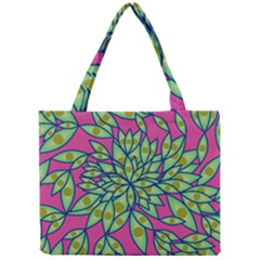 Big Growth Abstract Floral Texture Mini Tote Bag by Simbadda