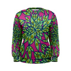 Big Growth Abstract Floral Texture Women s Sweatshirt