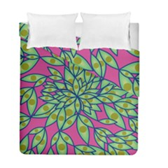 Big Growth Abstract Floral Texture Duvet Cover Double Side (full/ Double Size) by Simbadda