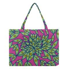 Big Growth Abstract Floral Texture Medium Tote Bag by Simbadda