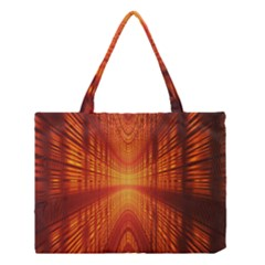 Abstract Wallpaper With Glowing Light Medium Tote Bag by Simbadda