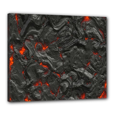 Volcanic Lava Background Effect Canvas 24  X 20  by Simbadda