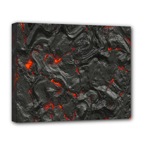 Volcanic Lava Background Effect Deluxe Canvas 20  X 16   by Simbadda