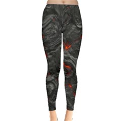 Volcanic Lava Background Effect Leggings  by Simbadda