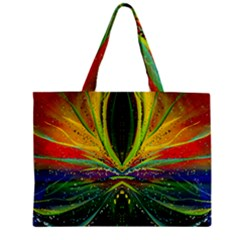 Future Abstract Desktop Wallpaper Zipper Mini Tote Bag by Simbadda