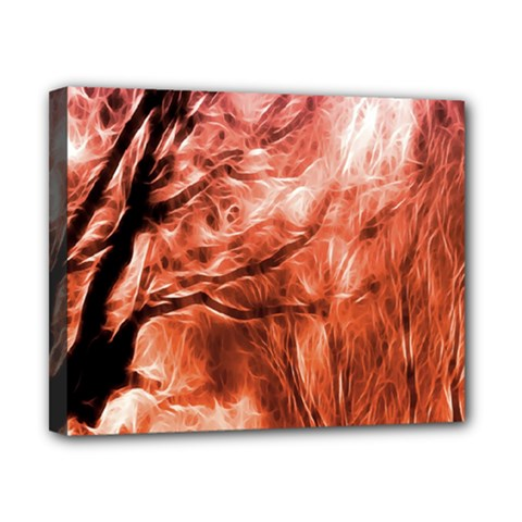 Fire In The Forest Artistic Reproduction Of A Forest Photo Canvas 10  X 8  by Simbadda