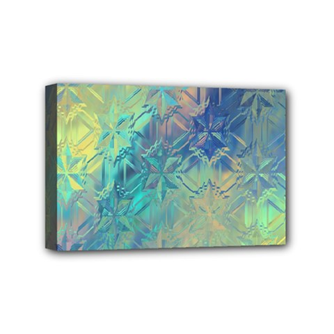 Colorful Patterned Glass Texture Background Mini Canvas 6  X 4
