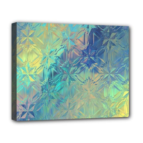 Colorful Patterned Glass Texture Background Deluxe Canvas 20  X 16   by Simbadda