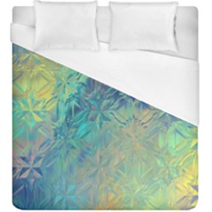 Colorful Patterned Glass Texture Background Duvet Cover (king Size) by Simbadda