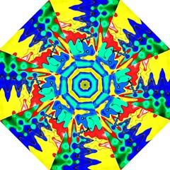 Bright Colours Abstract Hook Handle Umbrellas (medium) by Simbadda