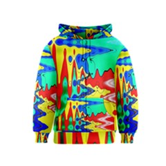 Bright Colours Abstract Kids  Zipper Hoodie
