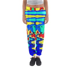 Bright Colours Abstract Women s Jogger Sweatpants by Simbadda
