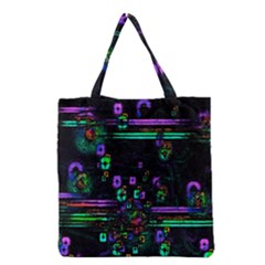 Digital Painting Colorful Colors Light Grocery Tote Bag by Simbadda