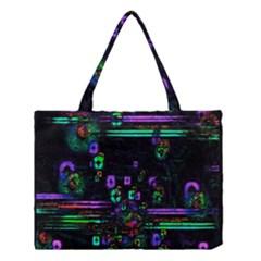 Digital Painting Colorful Colors Light Medium Tote Bag by Simbadda