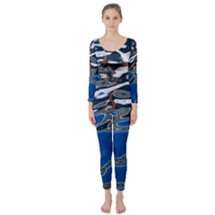 Colorful Reflections In Water Long Sleeve Catsuit
