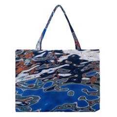 Colorful Reflections In Water Medium Tote Bag by Simbadda