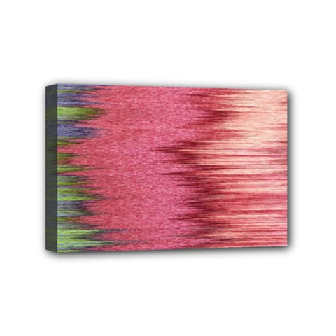 Rectangle Abstract Background In Pink Hues Mini Canvas 6  X 4  by Simbadda