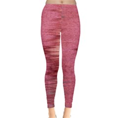 Rectangle Abstract Background In Pink Hues Leggings  by Simbadda